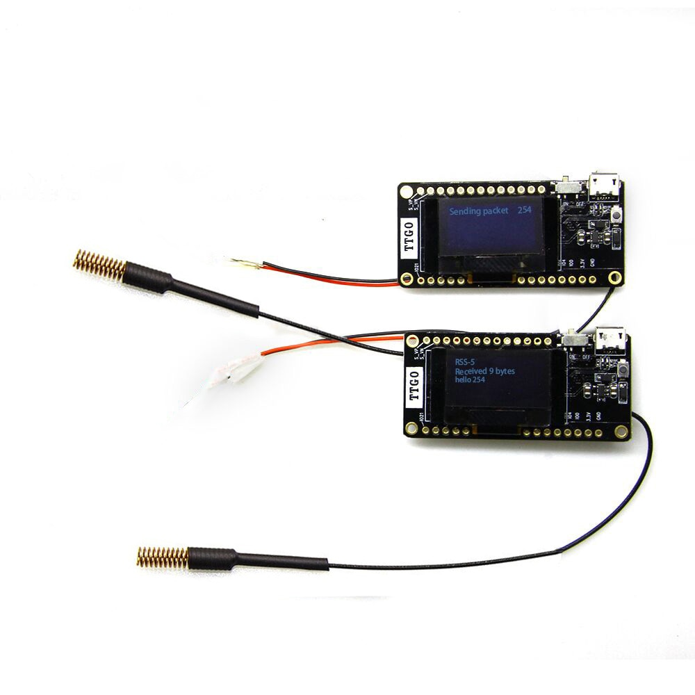 LILYGO®2 قطعة TTGO LORA32 V2.0 868/433Mhz ESP32 LoRa 0.96 بوصة SD بطاقة بلوتوث WIFI ESP32 ESP-32 وحدة مع هوائي