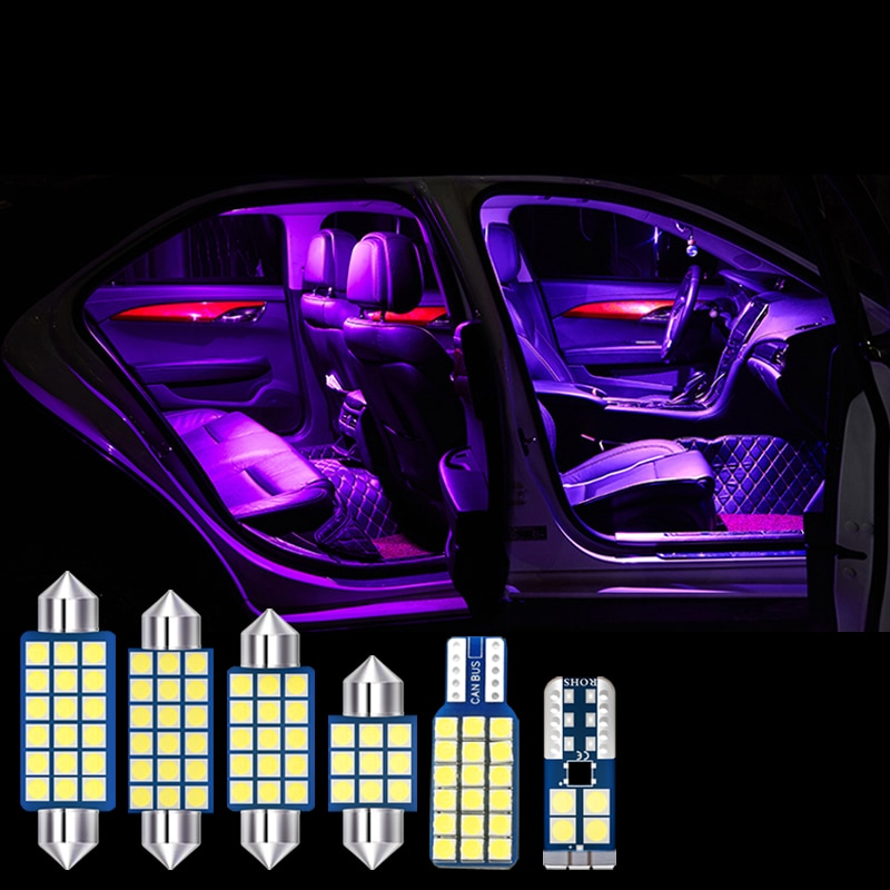 4pcs Error Free Car LED Bulbs Interior Dome Reading Lamps Trunk Light For Mitsubishi Outlander 3 2013 2014 2015 2016 Accessories