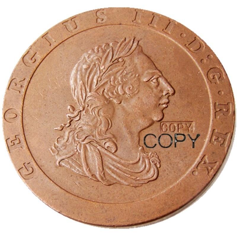 Moneda de copia de cobre 1797 de GEORGE III
