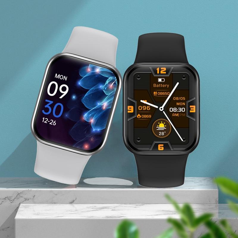 2021 New Smart Watch Men Full Touch Screen Sport Fitness Track Watch IP67 Waterproof Bluetooth Call
