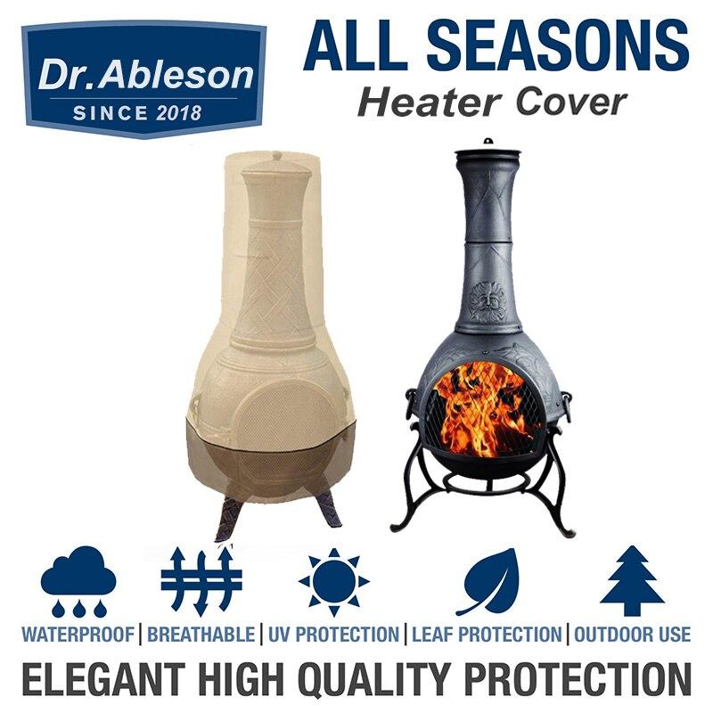 Cubierta de calentador para jardín, Protector de lluvia para exteriores, cubiertas impermeables para horno de polvo, cubierta de Chiminea para Patio, resistente al agua, tamaño 61/21x122cm