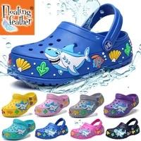 2021 child sandals crocks summer hole cute shoes crok rubber eva unisex garden shoes shark beach flat sandals soft kids