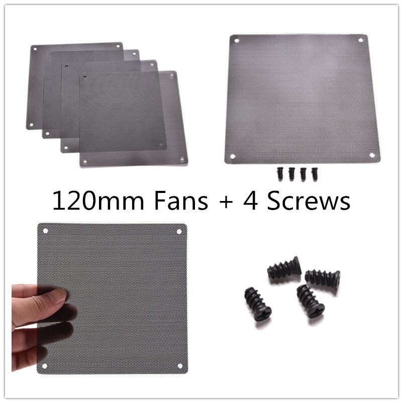 1PC Staubdicht Computer PC Kühler Fan Fall Abdeckung 120x120mm Staub Filter Cuttable Mesh Passt Standard 120mm Fans + 4 Schrauben
