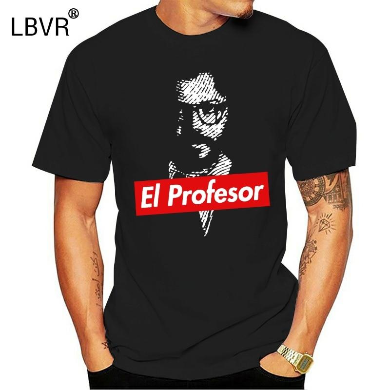 Camiseta de manga corta de calidad para hombre, camiseta para maestro de la casa de papel, casa de papel, letra di TEACHER, Camiseta 100% algodón