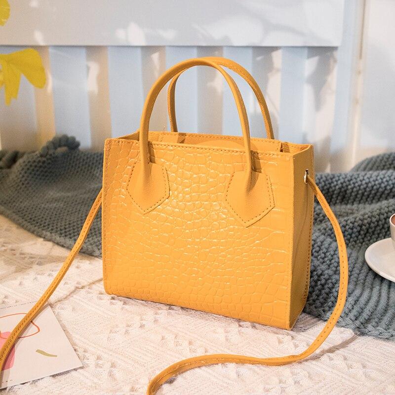 Élégant fourre-tout pour dames 2020 mode tendance femmes Crocodile motif bandoulière sacs à main Vintage classique solide Style sac à bandoulière