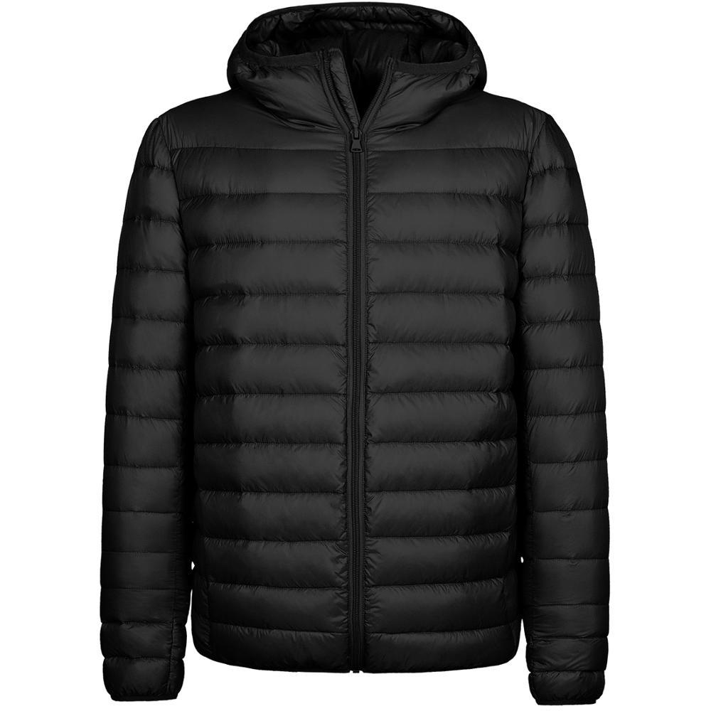 Men Hooded Down Jacket Lightweight Winter Puffer Coat Warm Jacket