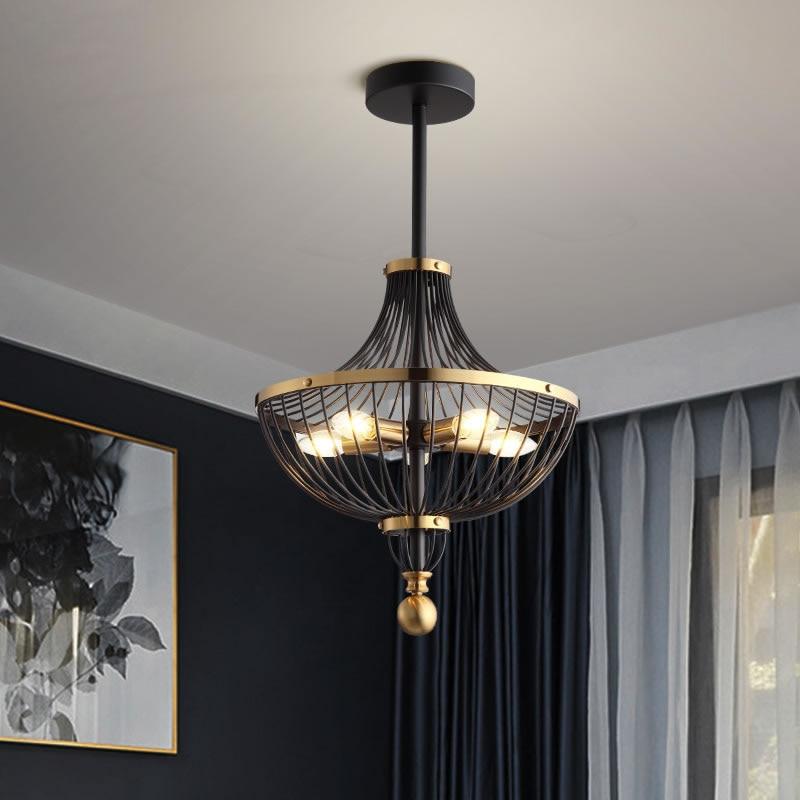 Vintage Iron LED Pendant Lights Lighting Luxury Pendant Lamp Dining Living Room Bedroom Aisle Loft Hotel Home Decor Hanging Lamp