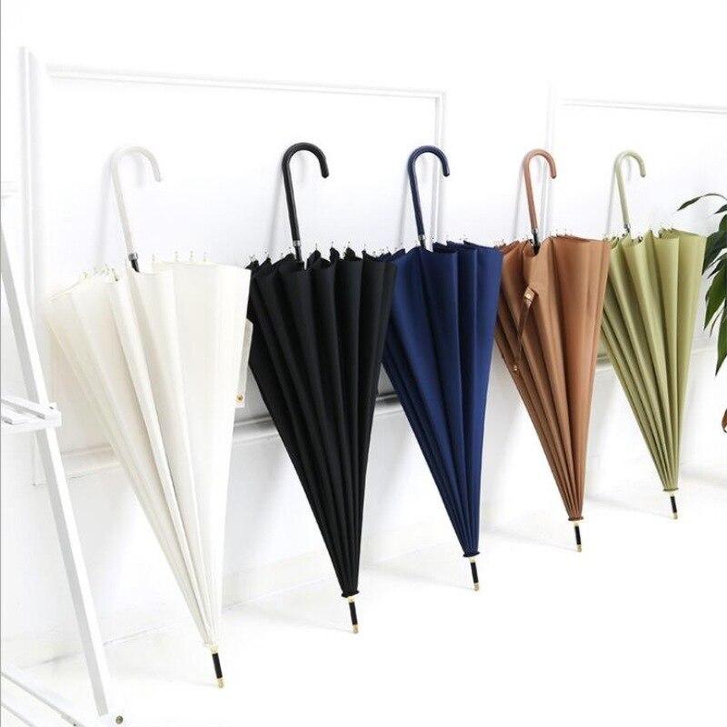 Japanese Large Umbrella Men Windproof Business Travel Portable Outdoor Big Golf Umbrella Vintage Waterproof Home Umbrella DA60YS