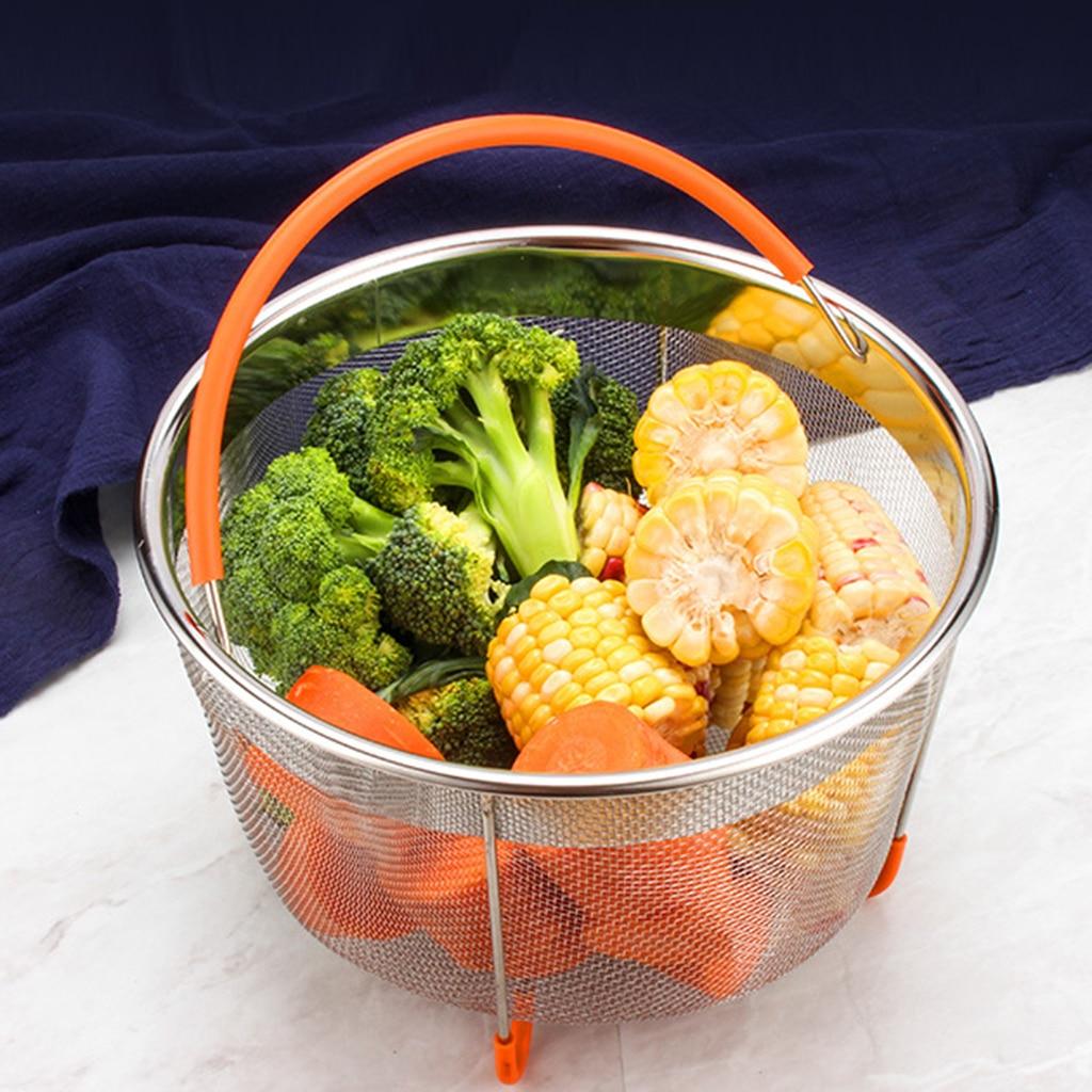 Steamer Basket Stainless Pot Instant Cooker Vegetable Food Mesh Steam Rack