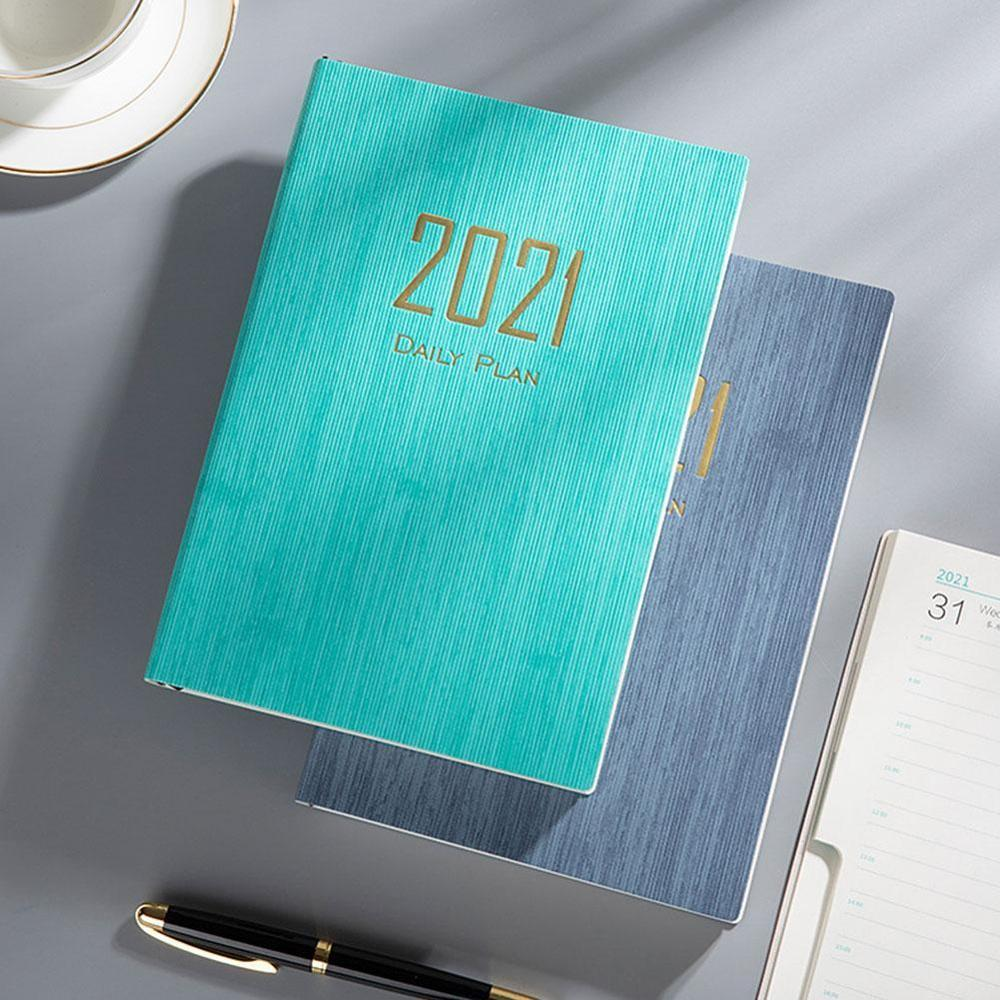 2021 Notebook Time Management Personal Monthly Weekly Daily Planner journal A5 Notebook Agenda School Stationery Supplies