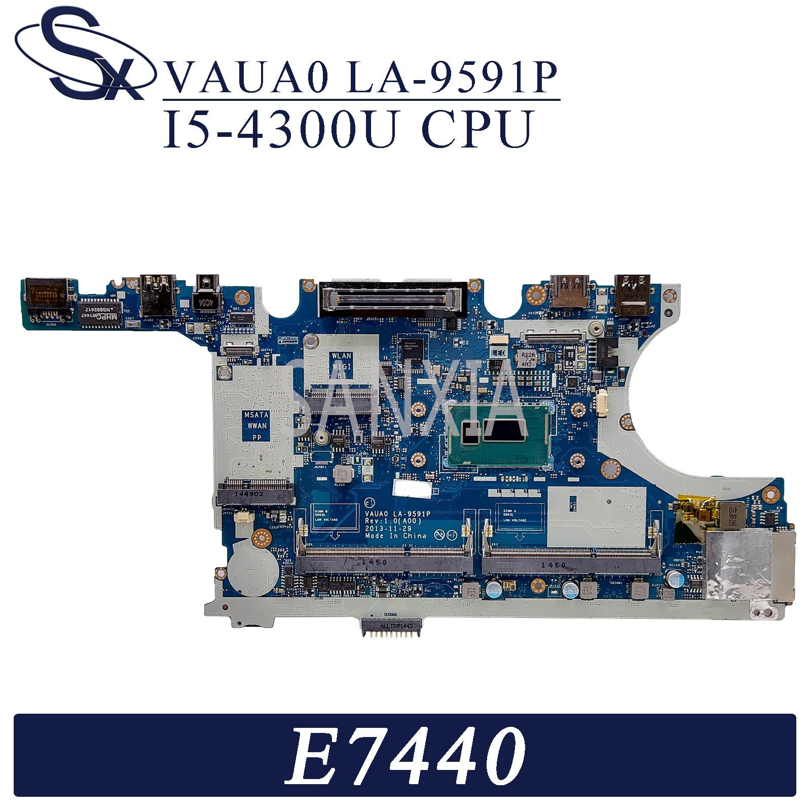 Kefu LA-9591P placa-mãe do portátil para dell latitude e7440 original mainboard I5-4300U