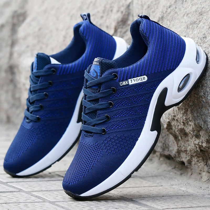 Vulcanized Shoes Male Sneakers 2019 Fashion Summer Air Mesh Breathable Wedges Sneakers For Men Plus Size erf56