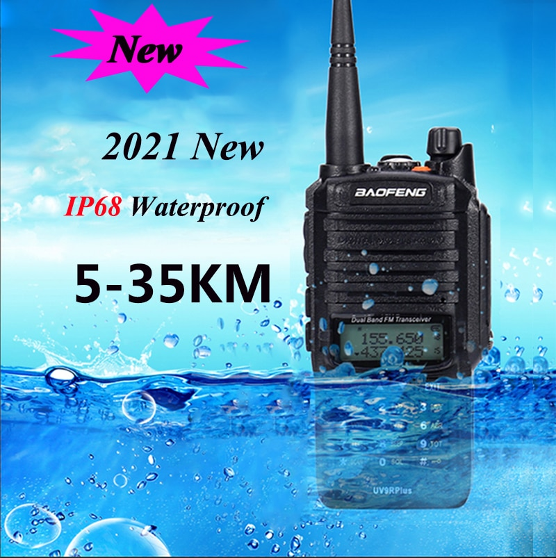 2021 Baofeng UV 9R plus Upgrade uv9r 40 km 50km walkie talkie 10W hf transceiver vhf uhf ham radio long range CB radio station