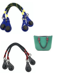 1 Pair Short  52 Cm 80 Cm Black Handle For Obag Tote Women Bag 2021