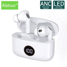 Alatour ANC active noise reduction Bluetooth Headset Sports earphone headphone Bluetooth 5.0 Chargin
