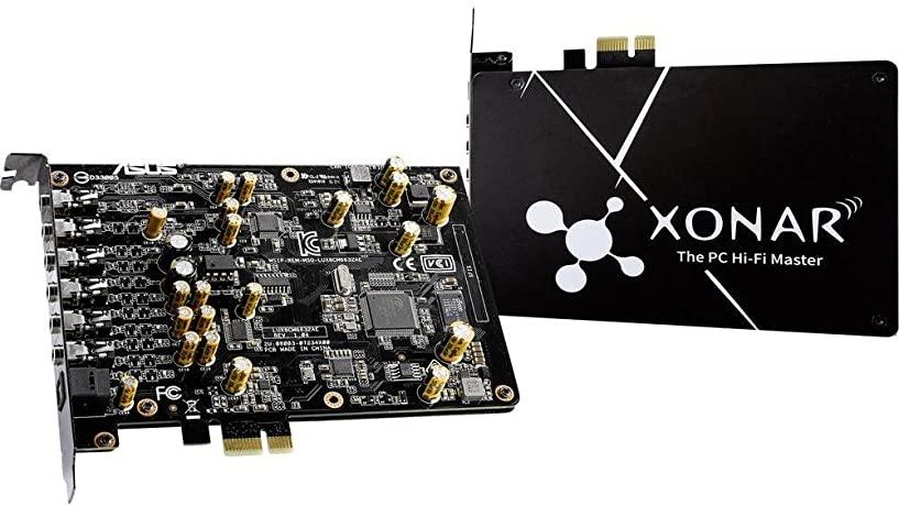 ASUS-بطاقة صوت Xonar AE عالية الدقة 192 كيلو هرتز/24 بت ، جودة صوت 7.1 PCIe مستعملة