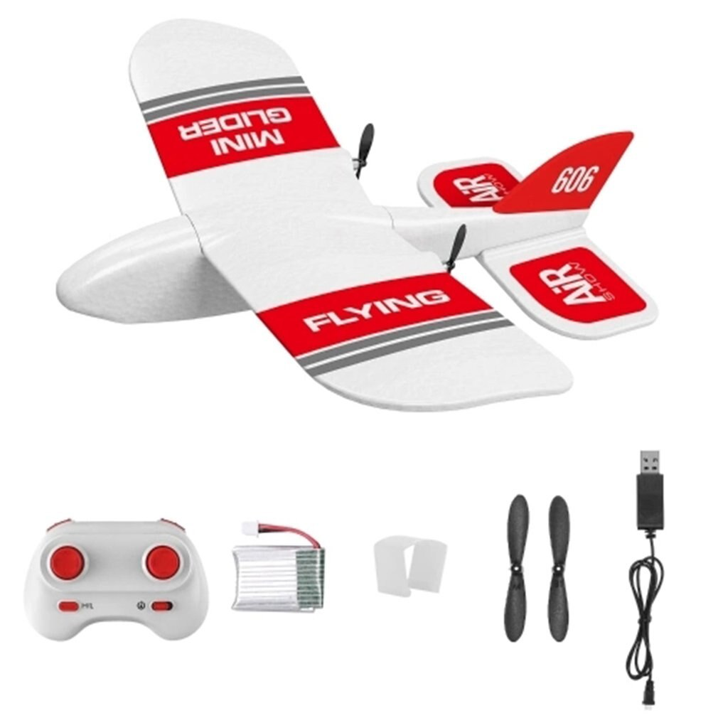 KF606 EPP Foam Glider RC Airplane Flying Aircraft 2.4Ghz 15 Minutes Fligt Time Foam Plane Toys For K