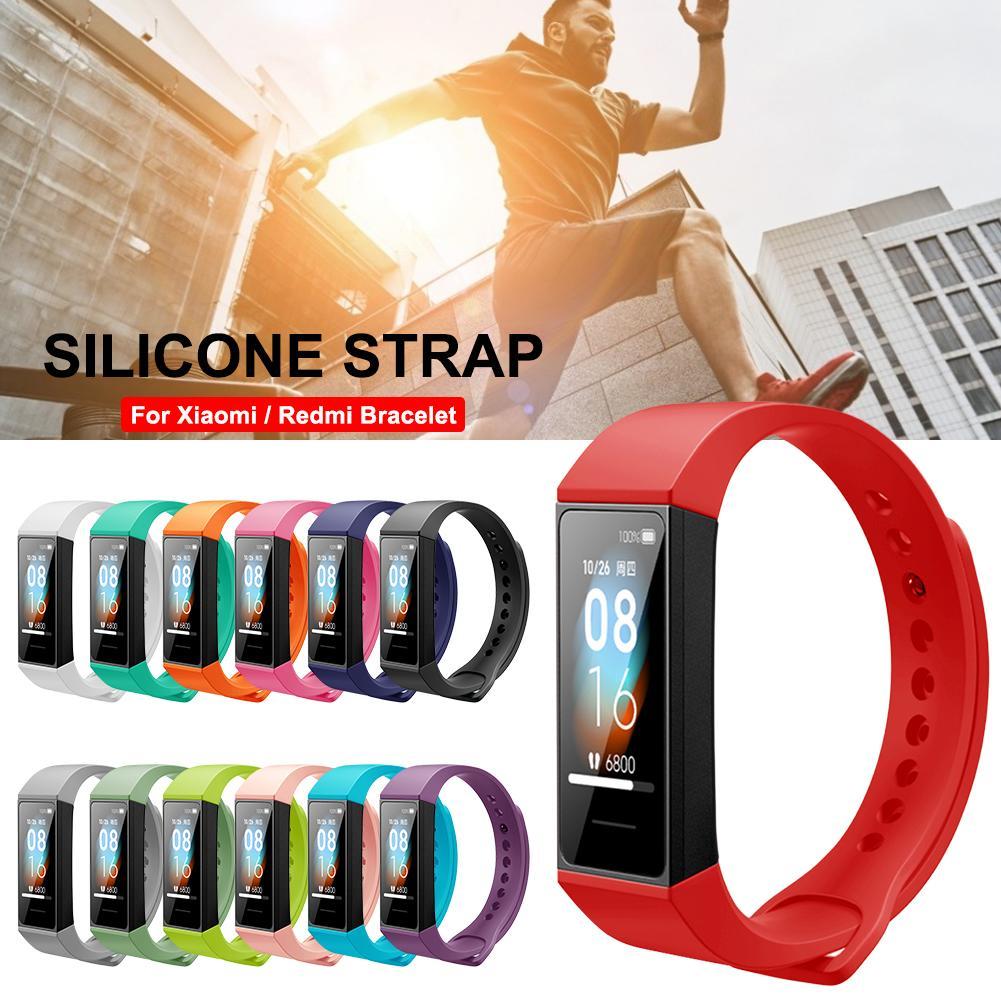 For Xiaomi Mi Band 4 Band 3 Strap Silicone Wristband Bracelet Replacement For Redmi Band 4 Mi Band 3 Wrist Color TPU Strap