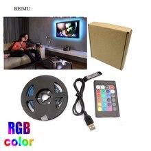 3.3FT rvb bande LED USB lumière 5050 USB Tira LED 5V Flexible néon RGB bande Fita Led lumières TV rétro-éclairage éclairage de fond