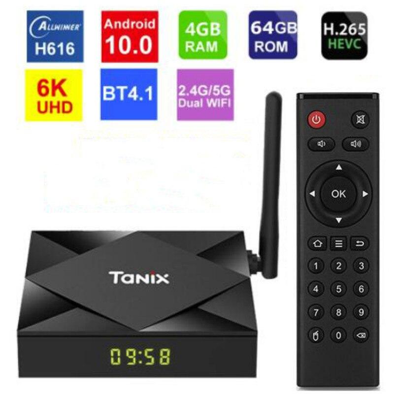 تانيكس-صندوق تلفزيون TX6S ، Android 10 ، 4 جيجابايت ، 64 جيجابايت ، Allwinner H616 ، رباعي النواة ، TVBox ، H.265 ، 6K ، مشغل وسائط TX6for Android 10.0