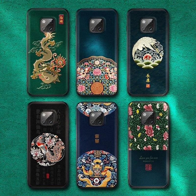 Funda de teléfono para Huawei Mate 20 Pro P20 P30 Pro Mate 10 20X20 Pro Teléfono de cuero de lujo suave bolsas de silicona Capa