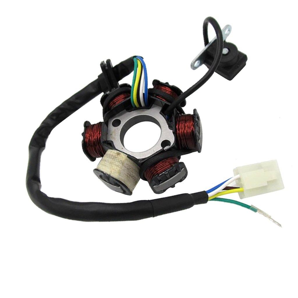 Estator del Magneto 6 bobina para 50cc 110cc 125cc Scooter ciclomotor TaoTao Sunl ATV Quad pozo de la bici de la suciedad