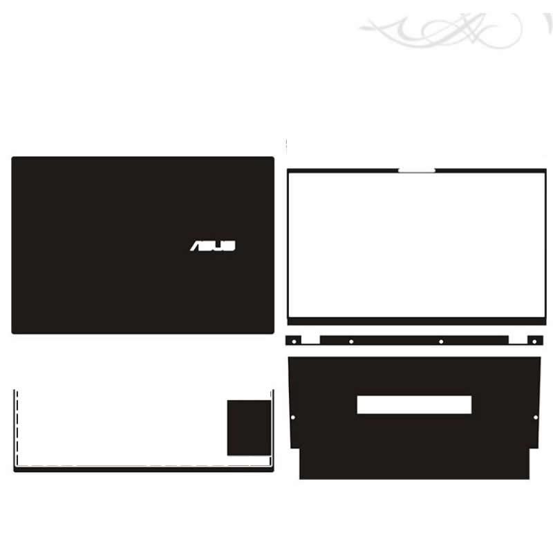 KH محمول ملصق الجلد الشارات غطاء حامي الحرس ل ASUS Zenbook Duo 14 UX481FL UX481FA UX481 UX482 UX482EG UX482EA