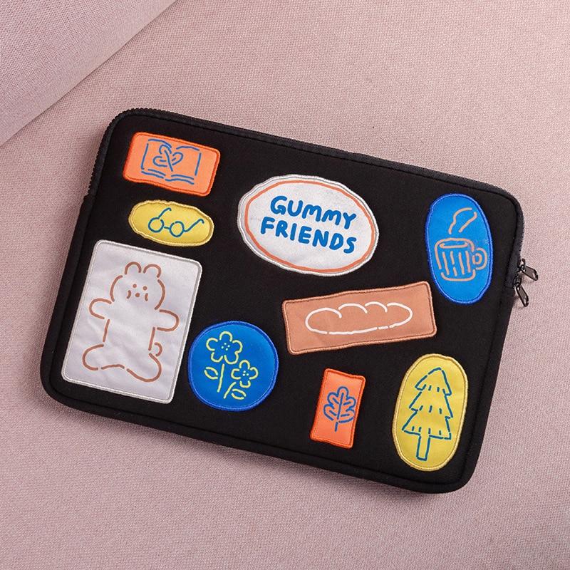 Fashion cartoon cute ipad pouch pro11 12.9 10.9 10.8 10.5 10.2 9.7 tablet protective sleeve case bag