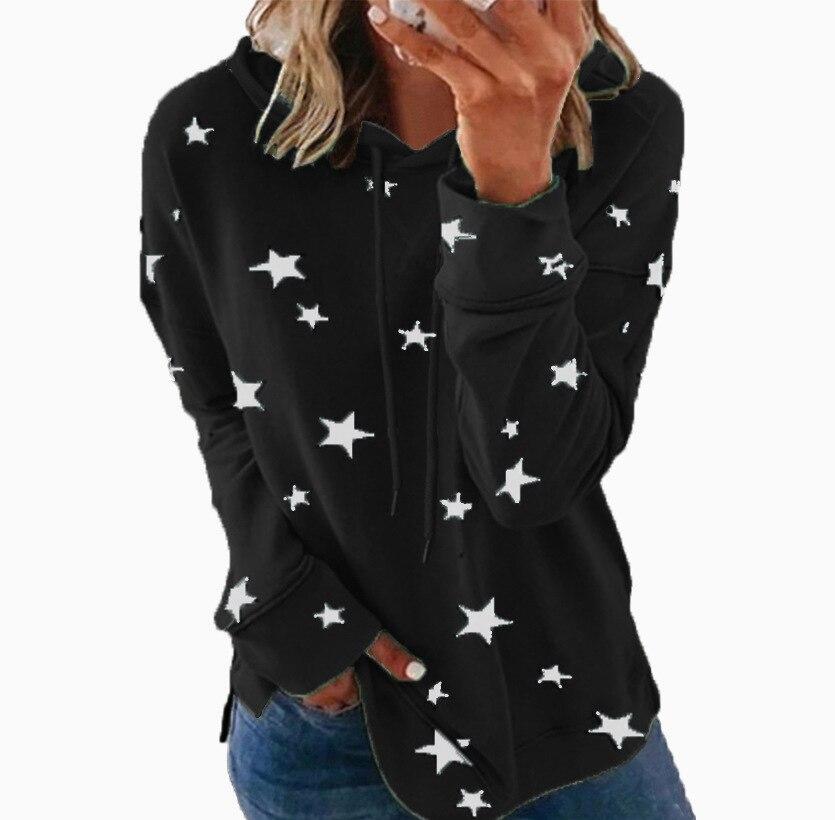 Женские свободные пуловеры с капюшоном, женские свитшоты, повседневные толстовки с принтом, женские модные топы на осень и зиму