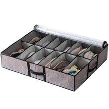 2 x Transparente Schuh Box Locker Drawer Storage Box Folding Schuh Box Haushalt Unter Bett Lagerung Box