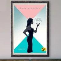 M007     affiche en soie personnalisee  film Simple Favor 2018   1 classique  a la mode  decoration murale  cadeau de noel