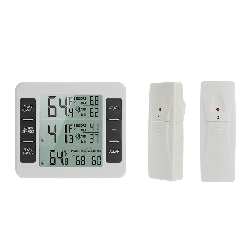 Home Wireless Indoor Outdoor Thermometers Electronic Refrigerator Thermometer Temperature Measuring