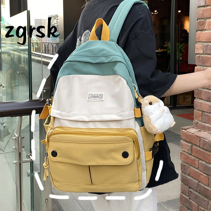 Милые женские рюкзаки, женский рюкзак, дизайнерские черные школьные ранцы в стиле преппи для подростков, школьные сумки