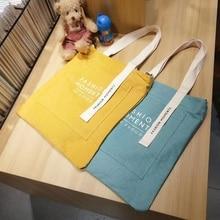 Women's Handbags Fashion Canvas Top Handbag Bags Letter Printed Kawaii Pink High Capacity Shopping H