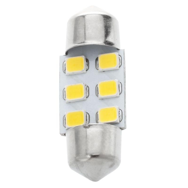 8x31mm 6 LED SMD ciepły biały samochód wewnętrzna girlanda mapa lampka do czytania