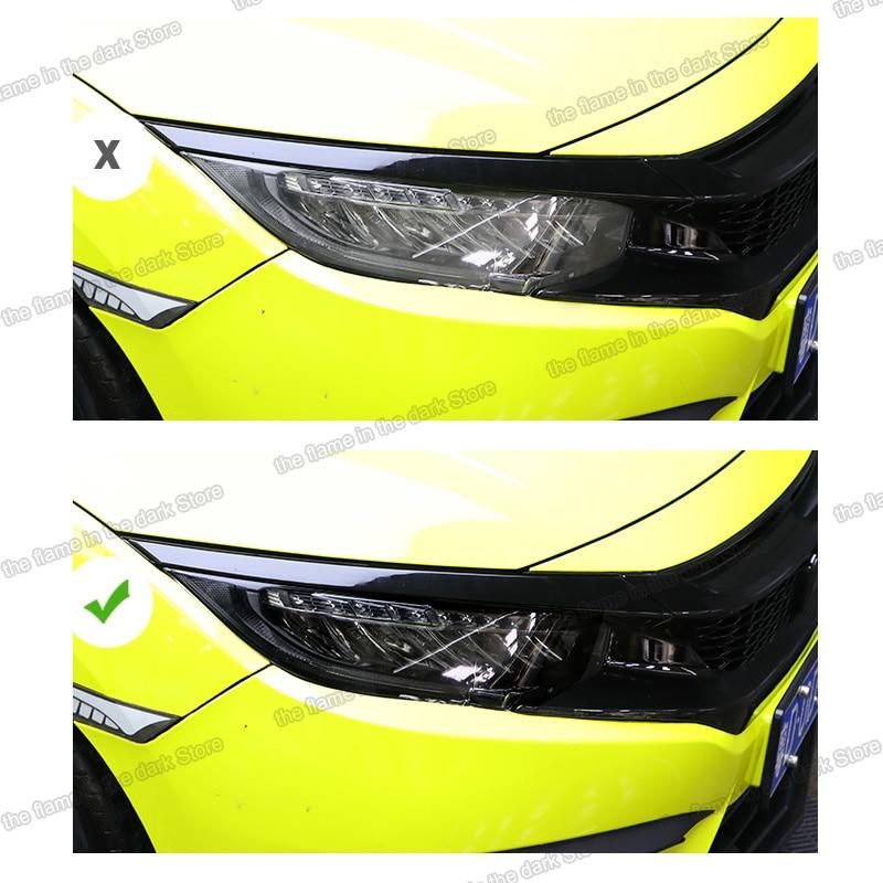 Lsrtw2017 TPU Car Transparent Black Headlight Film Protective Sticker for Honda Civic 2015 2016 2017 2018 2019 2020 10th