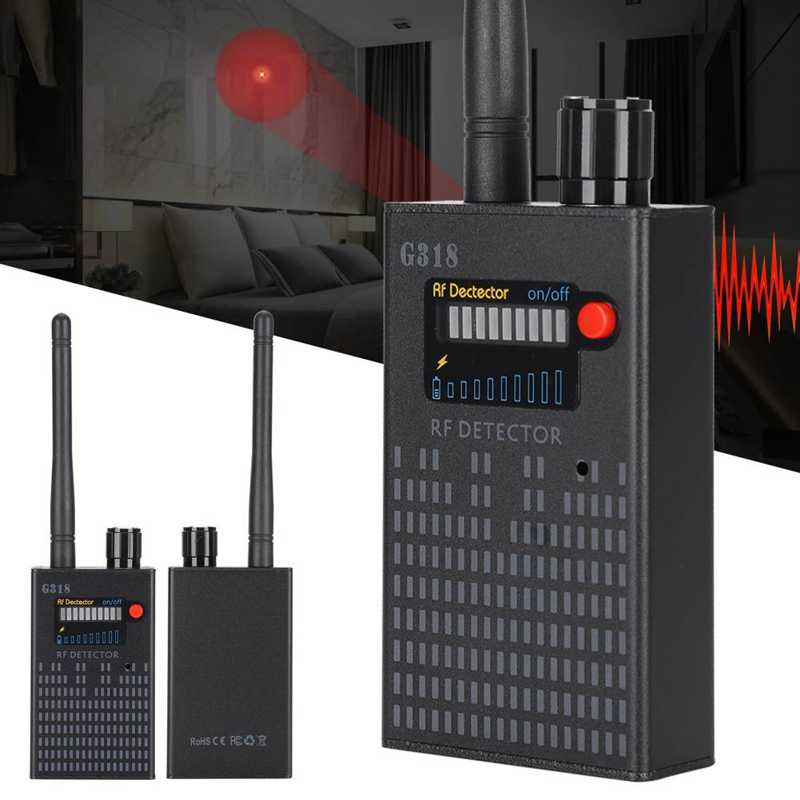 RF Signal Detector 100-240V G318 Radio Frequency Detector Wireless Tracking Mini Camera Device Security Tool enlarge