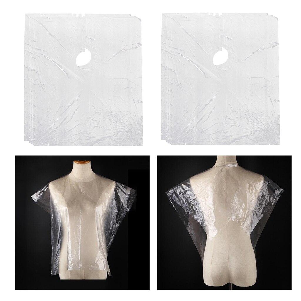 Cabo de Corte de Cabelo Protetor de Vestido de Salão de Cabelo Descartável Claro Faça Você Mesmo Capas 150 pc