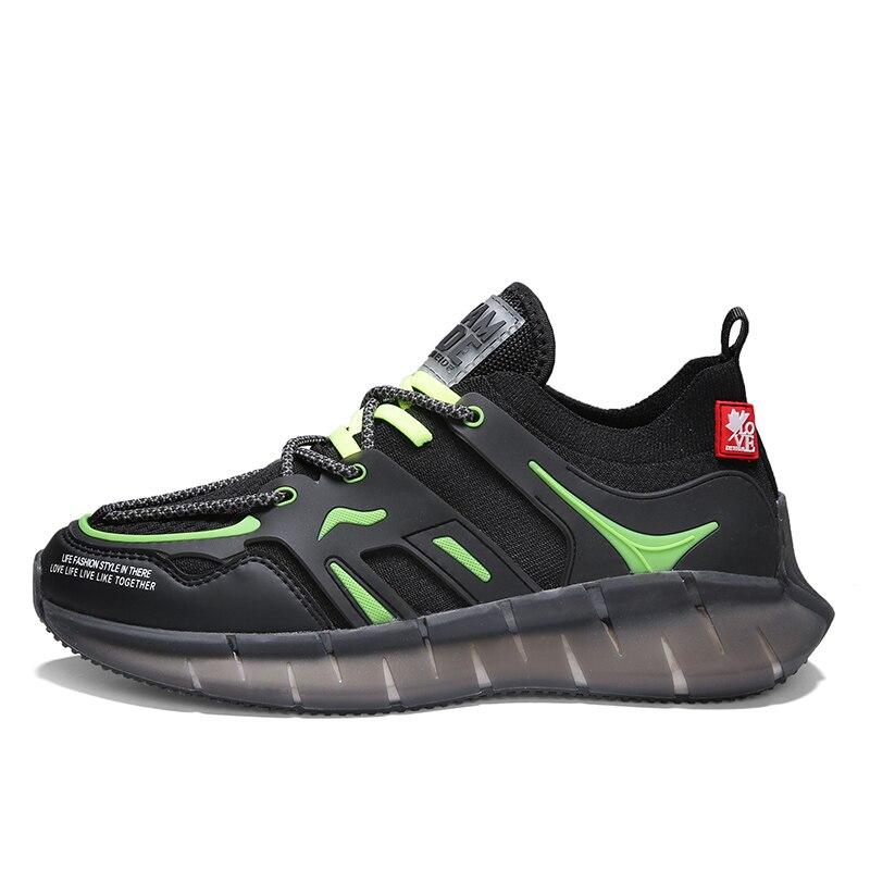 Zapatos de lujo transpirables de tela de la esportivo para hombre de carrera humana, calzado de aire para hombre, zapatos ligeros para hombre