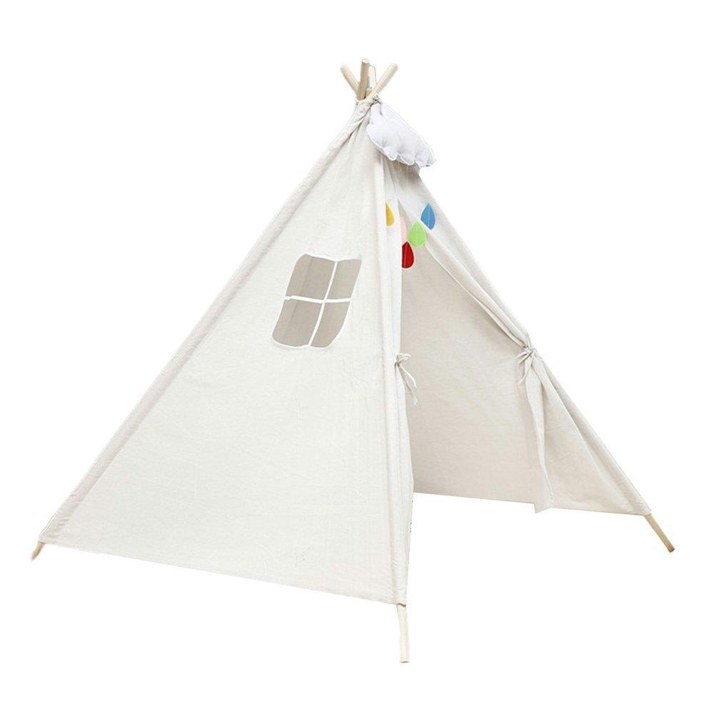 Children's Tent Teepee Tent For Kids Portable Tipi Infantil House For Children Cabana Kids Tents Decoration Carpet LED Lights
