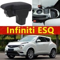 for Infiniti ESQ armrest box universal car center console caja modification accessories double raised with USB No installation
