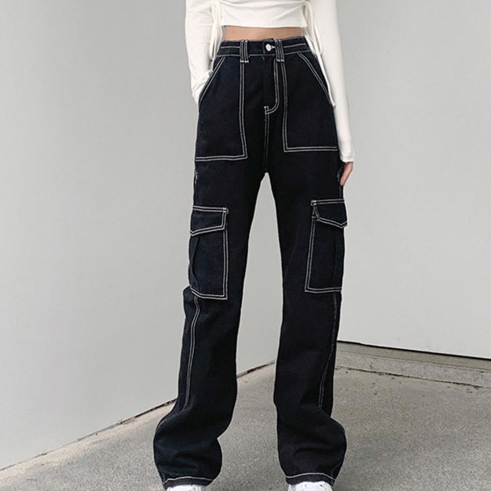 Повседневные трендовые прямые джинсовые брюки в стиле ретро для свиданий, женские джинсы, повседневные трендовые прямые джинсовые брюки в ...