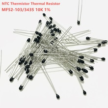 Termistor NTC-MF52-103/3435 10K Ohm 1%, Sensor de temperatura, resistencia térmica, 20 unids/lote