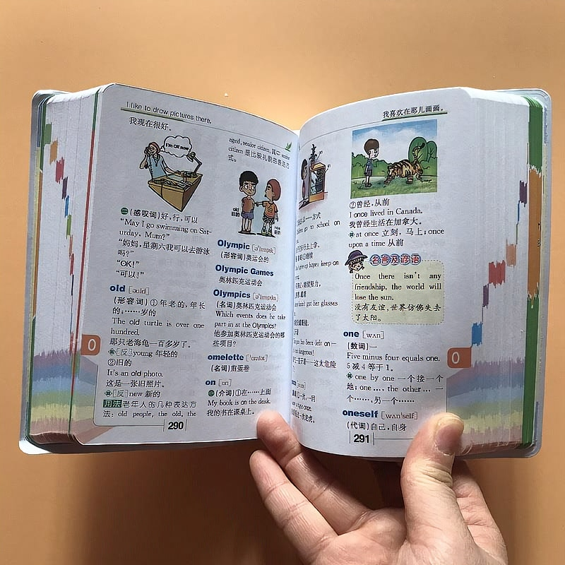 Фото - Multifunctional English Dictionary for Students 1-6 Color Picture Version The new full-featured English-Chinese dictionary Libro my first english pict dictionary the school