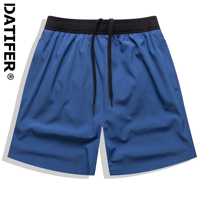 Datifer 2021 Casual Summer Men's Shorts Gym Sport Running Male Fitness Bodybuilding Workout Elastic D503S