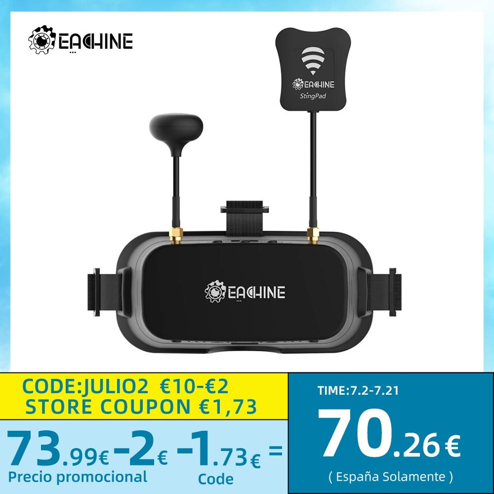 Everyine-نظارات متنوعة FPV EV800DM مع HD DVR ، 3 بوصة ، 5.8 × 900 ، سماعات فيديو ، سماعات مع بطارية مدمجة ، 600G ، 40CH