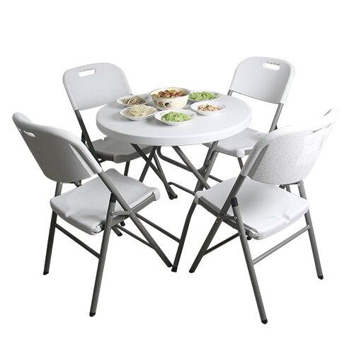 بسيطة صغيرة مستديرة طاولة طعام قابلة للطي المحمولة المنزل طاولة مستديرة قابلة للطي والكراسي بسيطة في الهواء الطلق الترفيه طاولة مستديرة