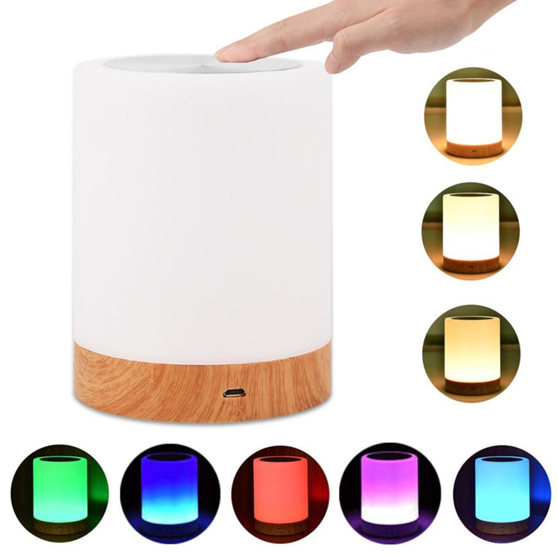 Bedside Lamp LED Table Lamp Touch Sensor Dimmable Table Lamp Creative Desk Light Bedroom Sleeping Warm Light Night Light Gift 24cm big moon lamp usb holiday atmosphere decorative sleeping table lamp touch bedside kids baby light creative gift chargeable