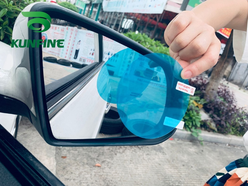 2PCS Car Rearview Mirror Protective Film Car Mirror Window Clear Film Anti Dazzle Waterproof Rainproof Anti Fog Car Sticker