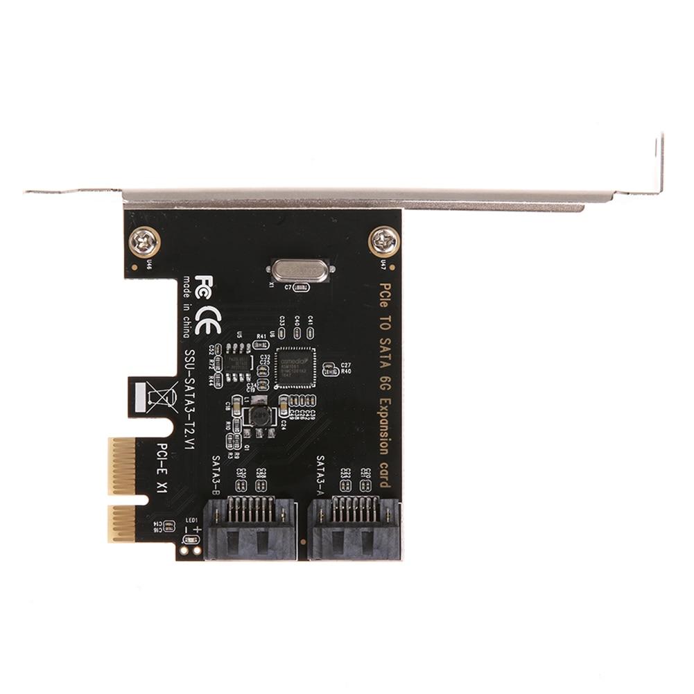 Удлинительная карта PCI-E PCI-SATA 3,0 с кронштейном, расширительный адаптер с 2 портами SATA III 6 Гбит/с, pci e sata3 pcie sata 3 для Minin